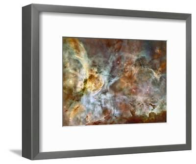 A 50-Light-Year-Wide View of the Central Region of the Carina Nebula-Stocktrek Images-Framed Photographic Print