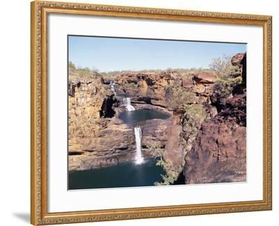 Complete View of All Four Stages of the Mitchell Falls, Kimberley, Western Australia, Australia-Richard Ashworth-Framed Photographic Print