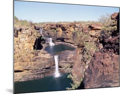 Complete View of All Four Stages of the Mitchell Falls, Kimberley, Western Australia, Australia-Richard Ashworth-Mounted Photographic Print
