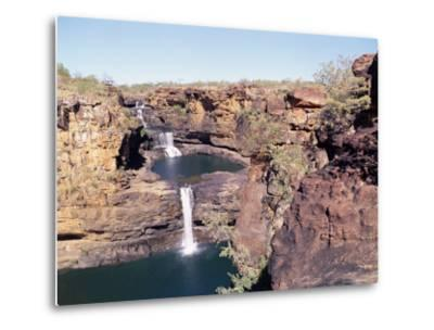 Complete View of All Four Stages of the Mitchell Falls, Kimberley, Western Australia, Australia-Richard Ashworth-Metal Print