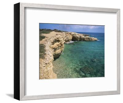 Rock Formations Along South Eastern Shore of the Island of Koufounissia, Lesser Cyclades, Greece-Richard Ashworth-Framed Photographic Print