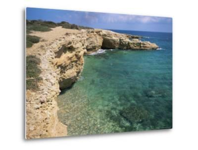 Rock Formations Along South Eastern Shore of the Island of Koufounissia, Lesser Cyclades, Greece-Richard Ashworth-Metal Print