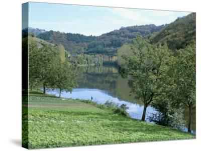 Lettuce Cultivation in Foreground, Near Port d'Acres, Midi-Pyrenees, France-Richard Ashworth-Stretched Canvas Print