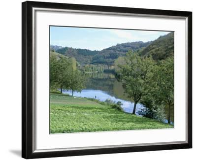 Lettuce Cultivation in Foreground, Near Port d'Acres, Midi-Pyrenees, France-Richard Ashworth-Framed Photographic Print