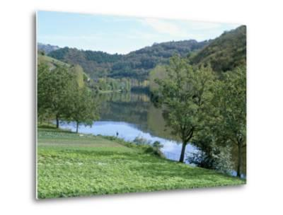 Lettuce Cultivation in Foreground, Near Port d'Acres, Midi-Pyrenees, France-Richard Ashworth-Metal Print