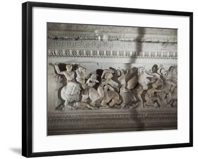 Detail of the Sarcophagus of Alexander the Great, Istanbul Museum, Turkey, Eurasia-Richard Ashworth-Framed Photographic Print