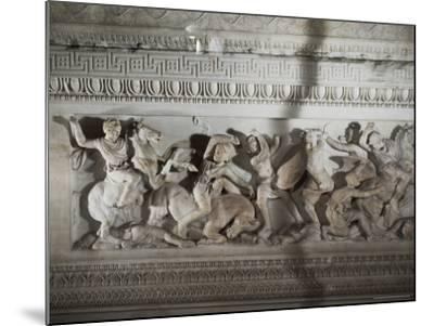 Detail of the Sarcophagus of Alexander the Great, Istanbul Museum, Turkey, Eurasia-Richard Ashworth-Mounted Photographic Print