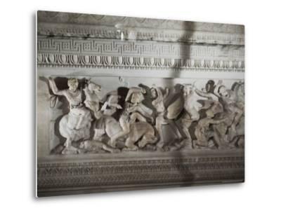 Detail of the Sarcophagus of Alexander the Great, Istanbul Museum, Turkey, Eurasia-Richard Ashworth-Metal Print
