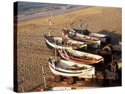 Fishing Boats, Cromer, Norfolk, England, United Kingdom-Charcrit Boonsom-Stretched Canvas Print