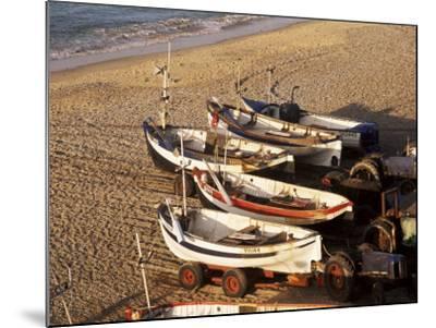 Fishing Boats, Cromer, Norfolk, England, United Kingdom-Charcrit Boonsom-Mounted Photographic Print