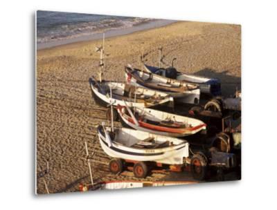 Fishing Boats, Cromer, Norfolk, England, United Kingdom-Charcrit Boonsom-Metal Print