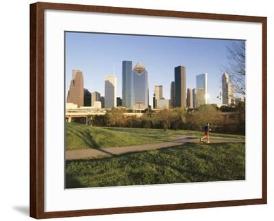 City Skyline, Houston, Texas, USA-Charles Bowman-Framed Photographic Print