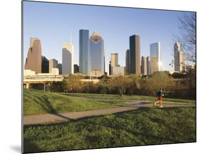 City Skyline, Houston, Texas, USA-Charles Bowman-Mounted Photographic Print
