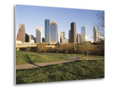 City Skyline, Houston, Texas, USA-Charles Bowman-Metal Print