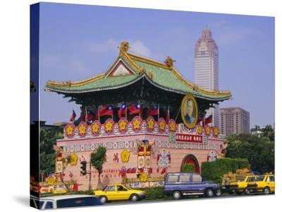City Gate on Chungshan Road, Taipei, Taiwan-Charles Bowman-Stretched Canvas Print