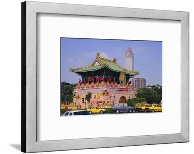 City Gate on Chungshan Road, Taipei, Taiwan-Charles Bowman-Framed Photographic Print