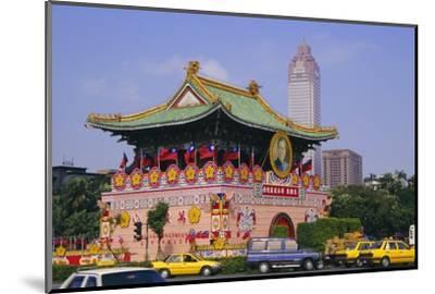 City Gate on Chungshan Road, Taipei, Taiwan-Charles Bowman-Mounted Photographic Print