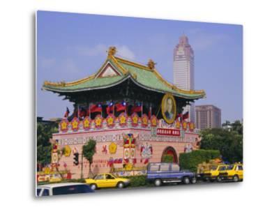 City Gate on Chungshan Road, Taipei, Taiwan-Charles Bowman-Metal Print