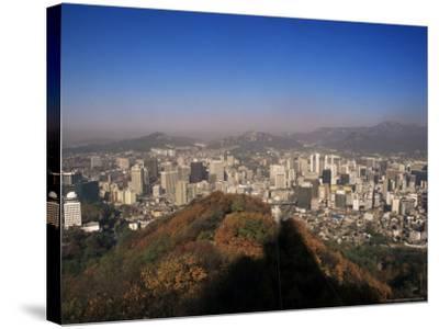 Seoul, South Korea, Korea-Charles Bowman-Stretched Canvas Print