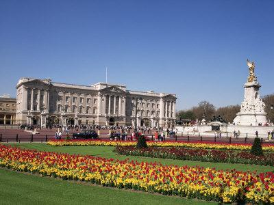 Buckingham Palace, London, England, United Kingdom-Charles Bowman-Framed Photographic Print