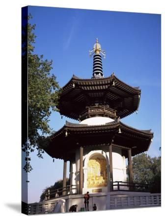 Japanese Peace Pagoda, Battersea Park, London, England, United Kingdom-Charles Bowman-Stretched Canvas Print