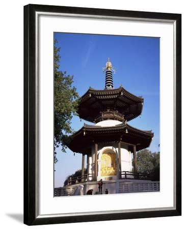 Japanese Peace Pagoda, Battersea Park, London, England, United Kingdom-Charles Bowman-Framed Photographic Print