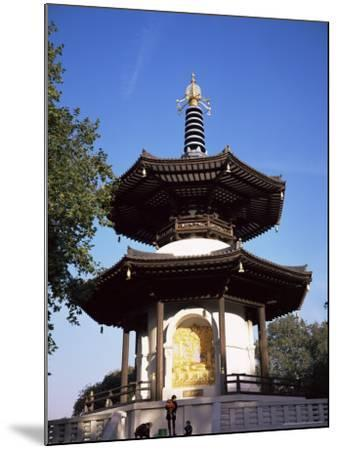 Japanese Peace Pagoda, Battersea Park, London, England, United Kingdom-Charles Bowman-Mounted Photographic Print