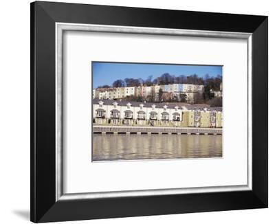Floating Harbour, Bristol, England, United Kingdom-Charles Bowman-Framed Photographic Print
