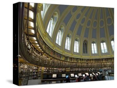 Reading Room, British Museum, London, England, United Kingdom-Charles Bowman-Stretched Canvas Print