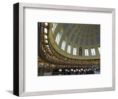 Reading Room, British Museum, London, England, United Kingdom-Charles Bowman-Framed Photographic Print
