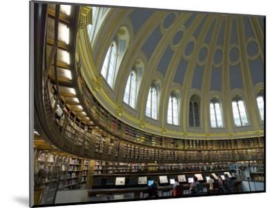 Reading Room, British Museum, London, England, United Kingdom-Charles Bowman-Mounted Photographic Print