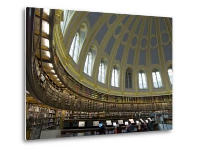 Reading Room, British Museum, London, England, United Kingdom-Charles Bowman-Metal Print