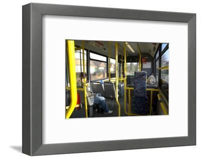 Interior of a Public Bus, England, United Kingdom-Charles Bowman-Framed Photographic Print