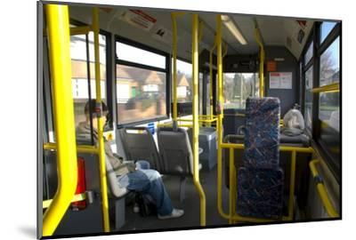Interior of a Public Bus, England, United Kingdom-Charles Bowman-Mounted Photographic Print
