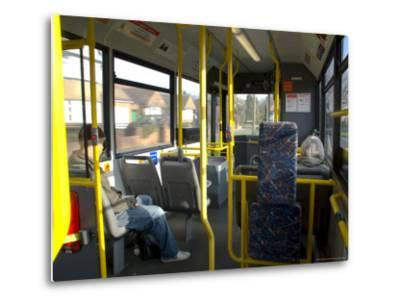 Interior of a Public Bus, England, United Kingdom-Charles Bowman-Metal Print