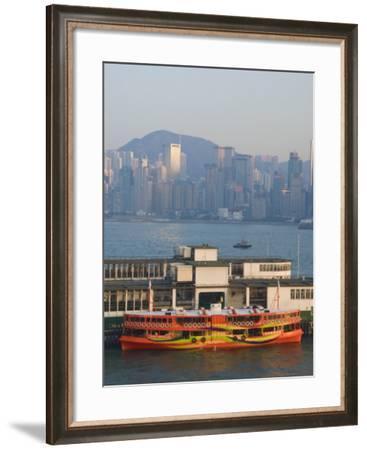 Star Ferry Pier, Kowloon, Hong Kong, China-Charles Bowman-Framed Photographic Print