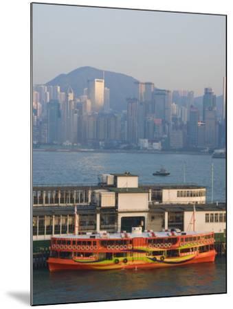 Star Ferry Pier, Kowloon, Hong Kong, China-Charles Bowman-Mounted Photographic Print