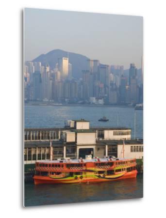 Star Ferry Pier, Kowloon, Hong Kong, China-Charles Bowman-Metal Print