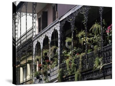 French Quarter, New Orleans, Louisiana, USA-Charles Bowman-Stretched Canvas Print