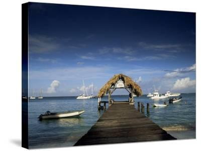 The Jetty, Pigeon Point, Tobago, West Indies, Caribbean, Central America-Julia Bayne-Stretched Canvas Print