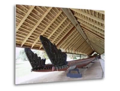 War Canoe (Ngatokimatawhaorua in Maori Language), 35M Long, 80 Rowers, Waitangi National Reserve-Jeremy Bright-Metal Print