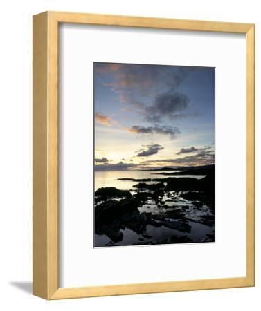 Rocky Coastline at Dusk, Looking Along the Coast to Easdale Island, Seil Island, Scotland-Pearl Bucknall-Framed Photographic Print