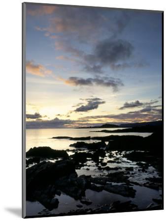 Rocky Coastline at Dusk, Looking Along the Coast to Easdale Island, Seil Island, Scotland-Pearl Bucknall-Mounted Photographic Print