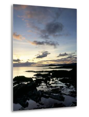 Rocky Coastline at Dusk, Looking Along the Coast to Easdale Island, Seil Island, Scotland-Pearl Bucknall-Metal Print