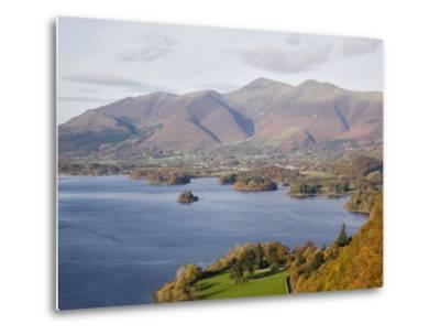 View Across Derwent Water to Keswick and Skiddaw from Watendlath Road in Autumn-Pearl Bucknall-Metal Print