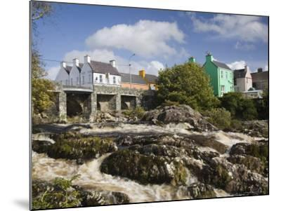 Sneem River Below Road Bridge in Village on Ring of Kerry Tourist Route, Iveragh Peninsula, Munster-Pearl Bucknall-Mounted Photographic Print