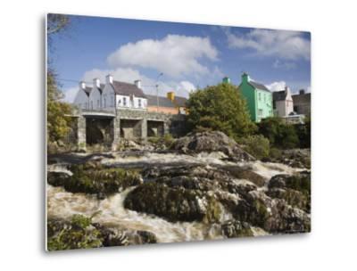 Sneem River Below Road Bridge in Village on Ring of Kerry Tourist Route, Iveragh Peninsula, Munster-Pearl Bucknall-Metal Print
