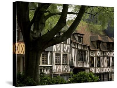 Timber-Framed Houses in the Restored City Centre, Rouen, Haute Normandie (Normandy), France-Pearl Bucknall-Stretched Canvas Print