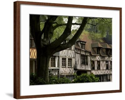 Timber-Framed Houses in the Restored City Centre, Rouen, Haute Normandie (Normandy), France-Pearl Bucknall-Framed Photographic Print