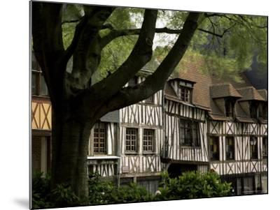Timber-Framed Houses in the Restored City Centre, Rouen, Haute Normandie (Normandy), France-Pearl Bucknall-Mounted Photographic Print